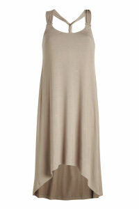 Heidi Klein Lisbon Twist Back Tapered Halter Dress