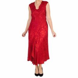 Chesca Satin Back Crepe Jacquard Dress