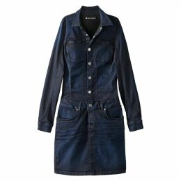 Bodycon Denim Shirt Dress