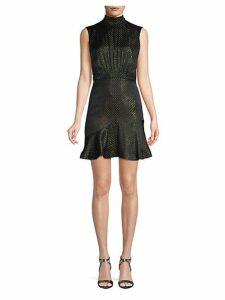 Printed Silk Short Dress