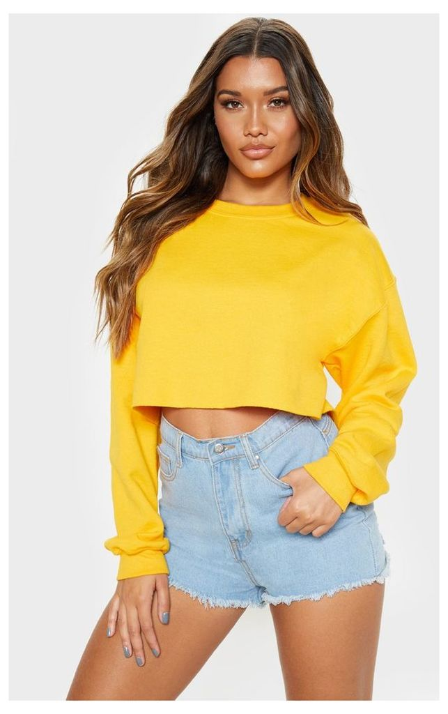 Yellow Ultimate Cropped Sweater, Yellow