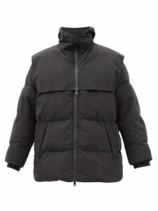 The Attico - Mia Embellished Cotton-velvet Robe Coat - Womens - Black Print