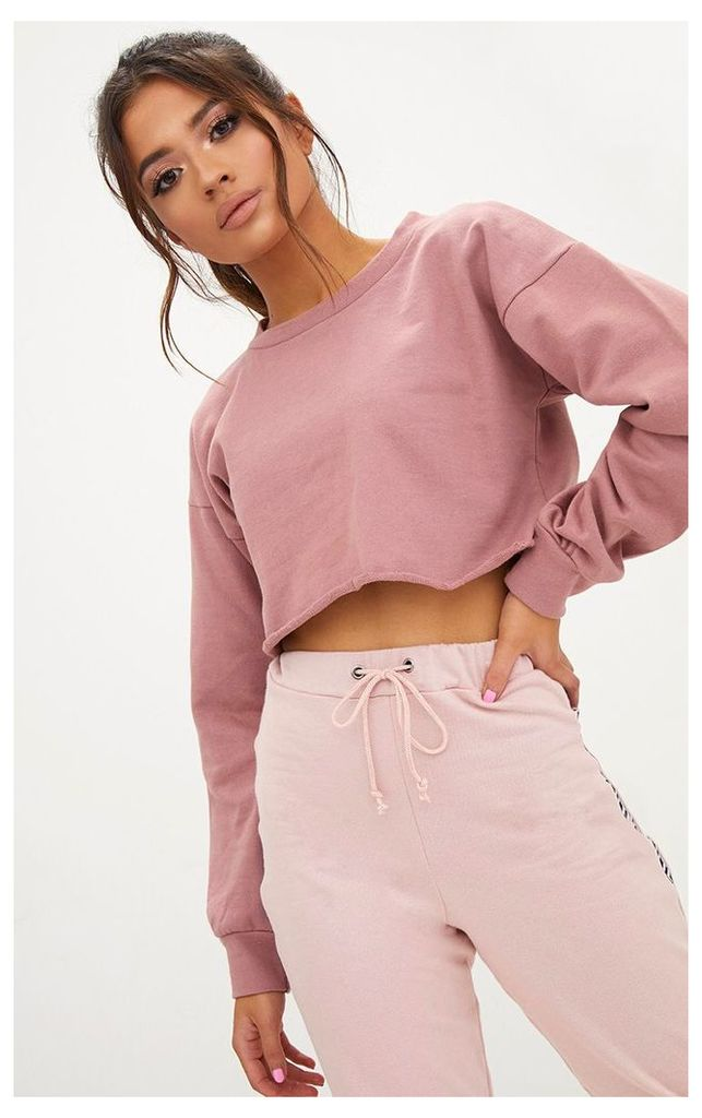 Petite Pink Cropped Sweater, Pink