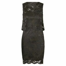 Draping Lace Bodycon Dress