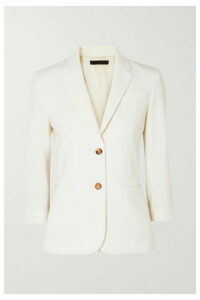 The Row - Schoolboy Stretch Wool-blend Crepe Blazer - Ivory