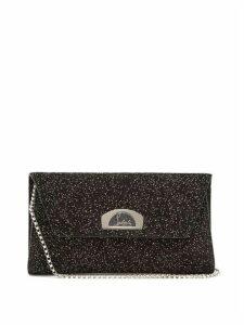 Christian Louboutin - Vero Dodat Embellished Suede Clutch - Womens - Black Silver
