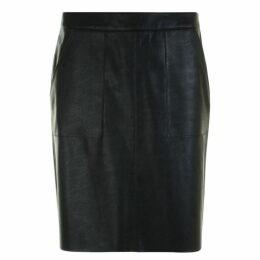 Boss Bliesy Leather Skirt
