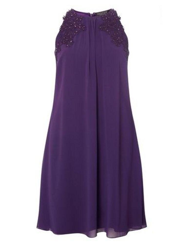 Womens **Showcase Purple 'Lily' Trapeze Dress- Purple, Purple