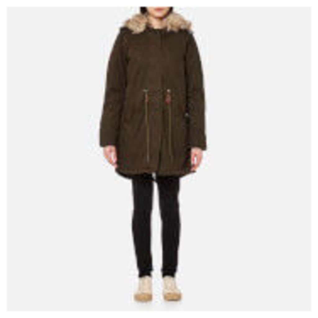 Superdry Women's Borderlands Faux Fur Lined Parka - Olive