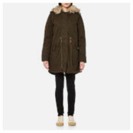Superdry Women's Borderlands Faux Fur Lined Parka - Olive - S - Green