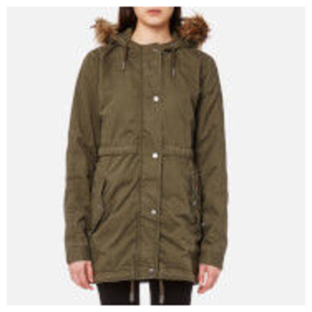 Superdry Women's Rookie Quilt Lined Parka - Army Olive - XS - Green