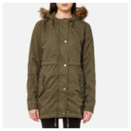 Superdry Women's Rookie Quilt Lined Parka - Army Olive