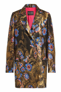 Etro Printed Blazer with Silk and Metallic Thread