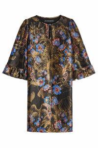 Etro Printed Dress with Silk and Metallic Thread