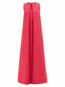 Stella Mccartney - Indigo Round Neck Ruched Sleeve Cocoon Dress - Womens - Indigo