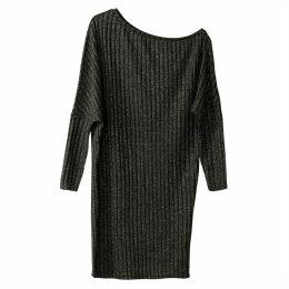 Metallic Off Shoulder Jumper Dress