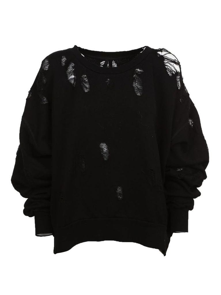 Ben Taverniti Unravel Project Ben Taverniti Distressed Sweatshirt