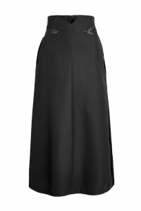 Maison Margiela Virgin Wool Midi Skirt