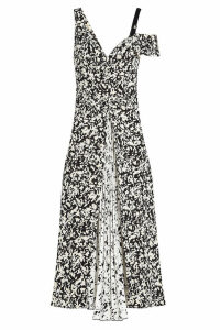 Proenza Schouler Printed Silk Dress with Pleats