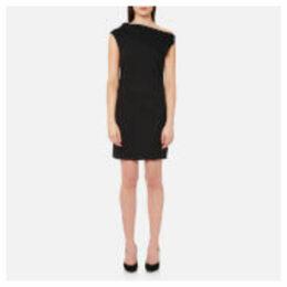 Helmut Lang Women's Asymmetric Mini Dress - Black