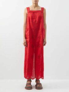 Sensi Studio - Apple Toquilla Straw Cross Body Bag - Womens - Red