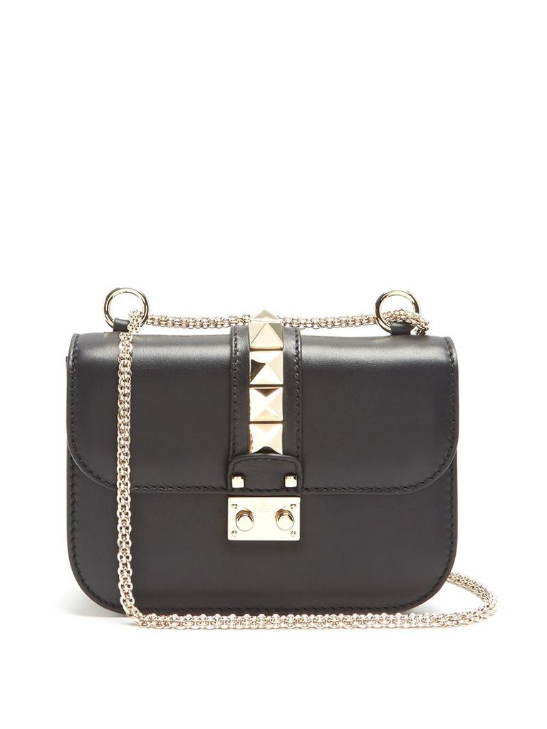 Valentino - Lock Small Leather Shoulder Bag - Womens - Black