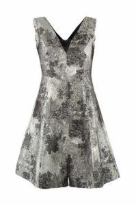 Blurred Print Fit & Flare Dress