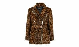 Leopard Leather Biker