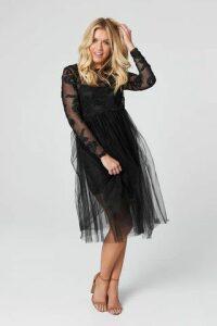 Lace Embroidery Midi Dress
