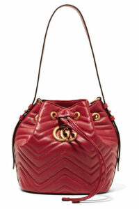 Gucci - Gg Marmont Quilted Leather Bucket Bag - Red