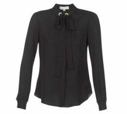 MICHAEL Michael Kors  GROMMET NK TIE BLSE  women's Blouse in Black