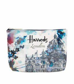 WATERCOLOUR HARRODS COSMETIC BAG