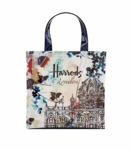 Watercolour Harrods Small Shopper Bag