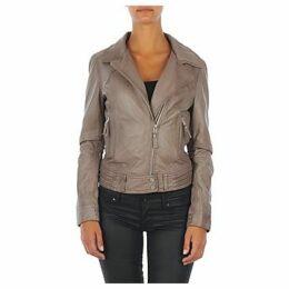 Oakwood  GLASS  women's Leather jacket in Grey