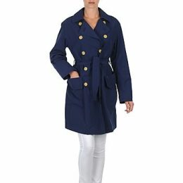 Lola  MALIN VENTO  women's Trench Coat in Blue