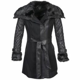 Morgan  GEFROU  women's Coat in Black