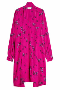 Balenciaga Silk Crepe Printed Dress
