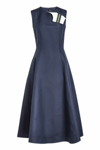 CALVIN KLEIN 205W39NYC A-Line Dress in Cotton and Silk