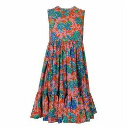 MSGM Floral Swing Dress