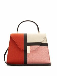 Valextra - Iside Medium Colour Block Bag - Womens - Pink Multi