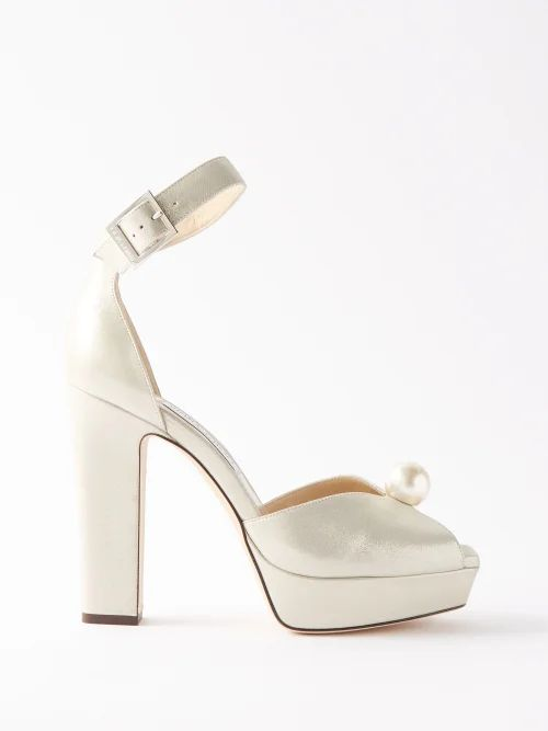 Jw Anderson - Oversized High Neck Tie Waist Cotton Trench Coat - Womens - Cream