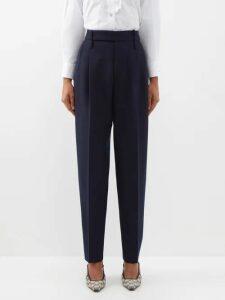 Diane Von Furstenberg - V Neck Cropped Crepe Jacket - Womens - Khaki