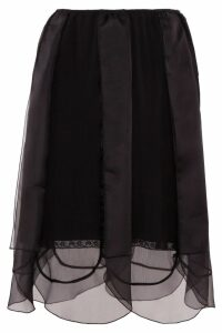 Prada Chiffon Skirt With Organza