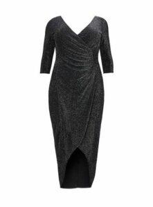**Scarlett & Jo Lurex Maxi Bodycon Dress, Black