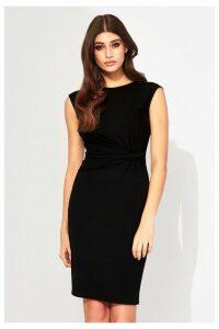 Lipsy Sleeveless Ruched Jersey Dress - 6 - Black