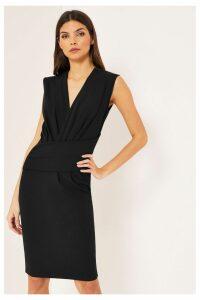 Lipsy V neck Bodycon Dress - 8 - Black
