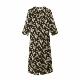 Please Floral Print Wrapover Dress