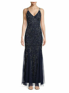 Embellished Floor-Length Gown