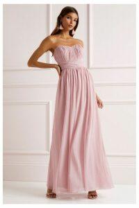 Lipsy Bella Bandeau Maxi Dress - 18 - Pink