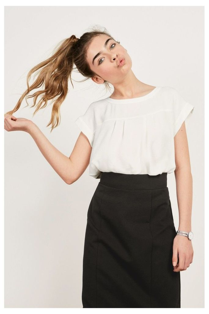 Womens Next Black Ponte Pencil Skirt -  Black